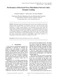 Performance of electrical power distribution network under dynamic loading