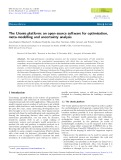 The Uranie platform: an open-source software for optimisation, meta-modelling and uncertainty analysis