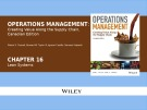 Lecture Operations management: Creating value along the supply chain (Canadian edition) - Chapter 16