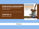 Lecture Operations management: Creating value along the supply chain (Canadian edition) - Chapter 15