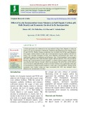Effect of in-situ incorporation green manures on soil organic carbon, pH, bulk density and economics involved in its incorporation