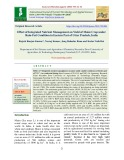 Effect of integrated nutrient management on yield of maize crop under rain-fed condition in eastern part of Uttar Pradesh, India