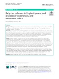 Baby-box schemes in England: Parent and practitioner experiences, and recommendations