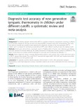 Diagnostic test accuracy of new generation tympanic thermometry in children under different cutoffs: A systematic review and meta-analysis