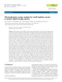 Thermodynamic exergy analysis for small modular reactor in nuclear hybrid energy system