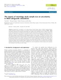 The impact of metrology study sample size on uncertainty in IAEA safeguards calculations