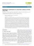 Multiobjective optimization for nuclear fleet evolution scenarios using COSI
