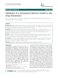 Validation of a transparent decision model to rate drug interactions