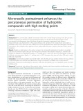 Microneedle pretreatment enhances the percutaneous permeation of hydrophilic compounds with high melting points