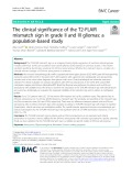 The clinical significance of the T2-FLAIR mismatch sign in grade II and III gliomas: A population-based study