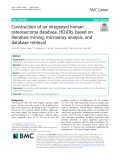 Construction of an integrated human osteosarcoma database, HOsDb, based on literature mining, microarray analysis, and database retrieval