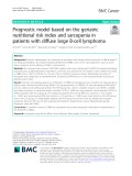 Prognostic model based on the geriatric nutritional risk index and sarcopenia in patients with diffuse large B-cell lymphoma