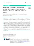 Modified FOLFIRINOX as a second-line therapy following gemcitabine plus nabpaclitaxel therapy in metastatic pancreatic cancer