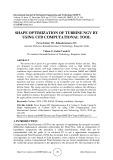 Shape optimization of turbine NGV by using CFD computational tool