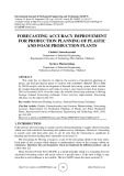 Forecasting accuracy improvement for production planning of plastic and foam production plants