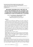 Building informatics: Review of selected informatics platform and validating systems for information communication technology systems