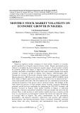Monthly stock market volatility on economic growth in Nigeria