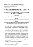 Modelling and parametric analysis in production of nanostructure stainless steel powder using modified taguchi technique