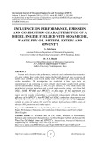 Influence on performance, emission and combustion characteristics of a diesel engine fuelled with sesame oil, waste fry oil methyl esters and mwcnt's