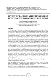 Review of factors affecting energy efficiency in commercial buildings