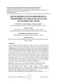 Development of environmental monitoring in areas of nuclear facilities location