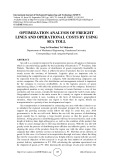 Optimization analysis of freight lines and operational costs by using sea toll