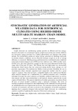 Stochastic generation of artificial weather data for subtropical climates using higher order multivariate markov chain model