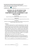 Optimal plate-fin design for improving heat dissipation performance of automobile lamp reflectors