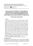 Analysis of the effect of business, technology and human resources capital on business performance in the noken bags craftsmen in Merauke