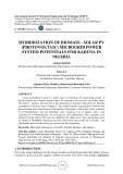 Hybridization of biomass - solar PV (photovoltaic) microgrid power system potentials for Kaduna in Nigeria