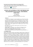 Study of materials test methods for wear resistance in oil and mining industry
