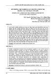 Mô phỏng thí nghiệm lan truyền Amoni - NH4 trong các cột đất Côn Sơn