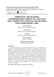 Improving the reading comprehension ability by applying the cooperative integrated reading and composition (CIRC)