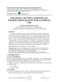The effect of tool geometry on welding joint quality for aluminum 1100