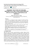 Periodic solution of integro-differential equations depended on special function with singular Kernels