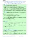 Bài giảng chuyên đề luyện thi đại học Vật lý – Chương 1 (Chủ đề 1): Chuyển động quay của vật rắn quanh một trục cố định