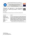 Thách thức và tiếp cận mô hình ba chiều điều kiện địa chất công trình khu vực Hà Nội