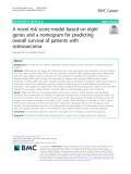 A novel risk score model based on eight genes and a nomogram for predicting overall survival of patients with osteosarcoma