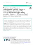 Treatment-related changes in neuroendocrine tumors as assessed by textural features derived from 68GaDOTATOC PET/MRI with simultaneous acquisition of apparent diffusion coefficient