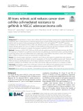 All-trans retinoic acid reduces cancer stem cell-like cell-mediated resistance to gefitinib in NSCLC adenocarcinoma cells