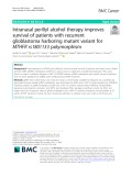 Intranasal perillyl alcohol therapy improves survival of patients with recurrent glioblastoma harboring mutant variant for MTHFR rs1801133 polymorphism