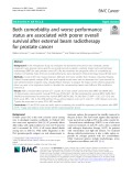 Both comorbidity and worse performance status are associated with poorer overall survival after external beam radiotherapy for prostate cancer