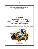Giáo trình Vẽ kỹ thuật - Nghề: Kỹ thuật máy lạnh và điều hòa không khí - Trình độ: Cao đẳng nghề (Tổng cục Dạy nghề)