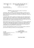 Công văn số 5825/BKHĐT-QLĐT