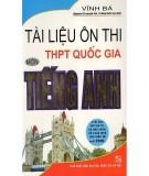 Tài liệu ôn thi THPT Quốc gia môn Tiếng Anh: Phần 1