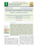 Seasonal variations in the uptake and status of the secondary nutrients in leaf terminals in cashew in Coastal districts of Andhra Pradesh, India
