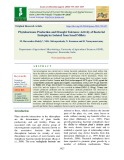 Phytohormone production and drought tolerance activity of bacterial endophytes isolated from small millets