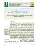 Socio economic and psychological profile of members of self help groups in Ramanagara district of Karnataka, India