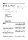 Khuyến cáo 2010 Của Hội Tim mạch học quốc gia Việt Nam về chẩn đoán và điều trị bệnh động mạch chi dưới (phần I)