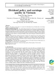 Dividend policy and earnings quality in Vietnam